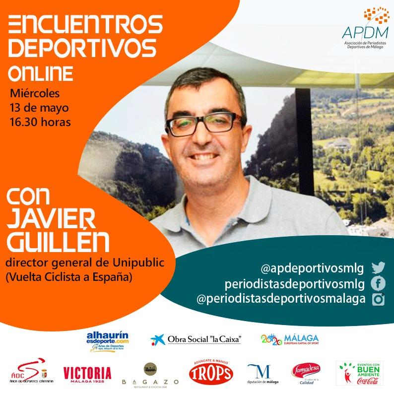 Javier Guillén estrena los 'Encuentros Deportivos Online' de la APDM