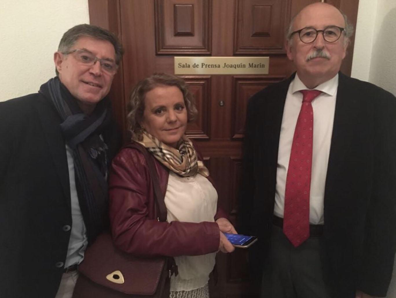 La APDM, en la inauguración de la sala de prensa Joaquín Marín